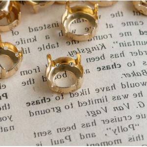 Цапы круглой формы, открытые, цвет золото, 12 мм...