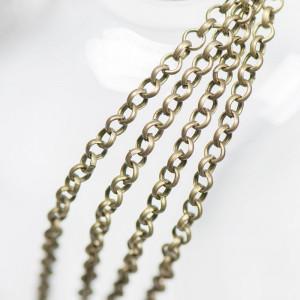 Цепочка для бижутерии, античная бронза,  4х1 мм...