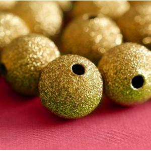 Бусина металлическая с напылением, золото, 12 мм...