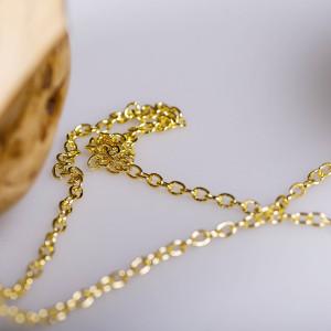 Цепочка, цвет - золото, размер звена 5,5x4x1 мм...