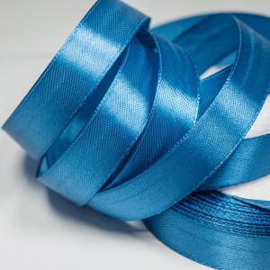 Лента атласная, синий, 15 мм...