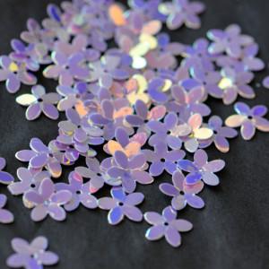 Пайетки фигурные, фиолетовый радужный, 10 мм (уп 5г)...