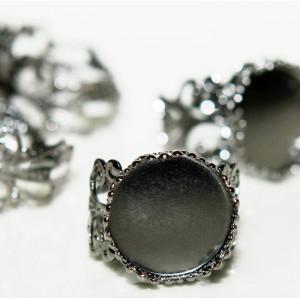Заготовка для кольца, черный, 18 мм...