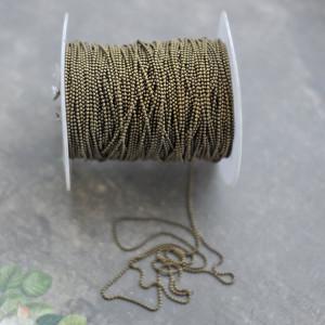 Цепочка для бижутерии, античная бронза, шарик 1,5 мм...