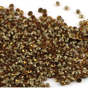 Стразы стеклянные ювелирные, желтый, 2.2 мм (уп 10 шт)...