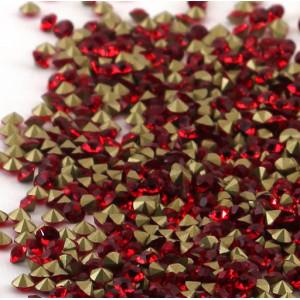 Стразы горный хрусталь, цвет красный, 2.8 мм (уп 10 шт)...