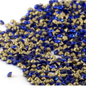 Стразы стеклянные ювелирные, цвет синий, 2.8 мм (уп 10 ...