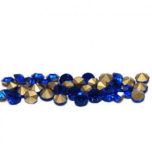Стразы стеклянные ювелирные, цвет ярко-синий, 3.6 мм (у...