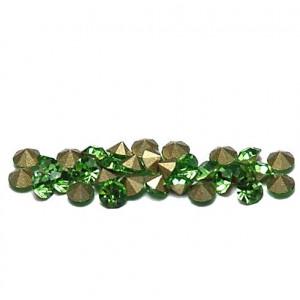 Стразы горный хрусталь, цвет светло-зеленый, 3.6 мм (уп...