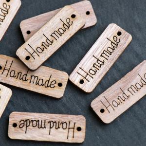 Подвеска-бирка деревянная, цв. натуральный...