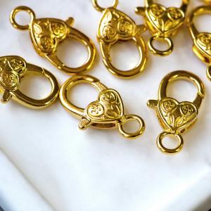 Замочек-лобстер в тебетском стиле, цвет золото, 26х25х1...