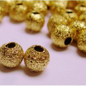 Бусина металлическая с напылением, золото, 4 мм...