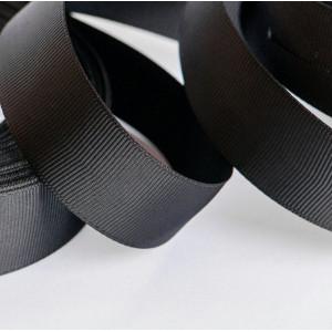 Репсовая лента, черный, ширина 25 мм...