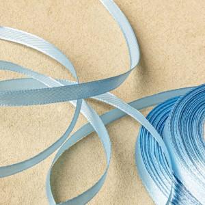 Атласная лента, голубой, ширина 6 мм...