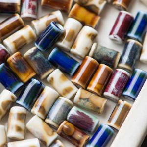 Бусина керамическая, разные цвета, 10.5х6 мм...