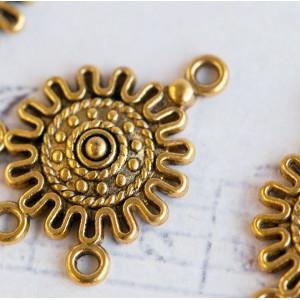 Коннектор 1-3 отв, золото, 27х18х3 мм...