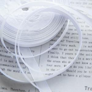 Атласная лента, белый, ширина 10 мм...