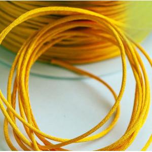 Атласный шнур для кумихимо, насыщенный желтый, 1 мм (4 ...