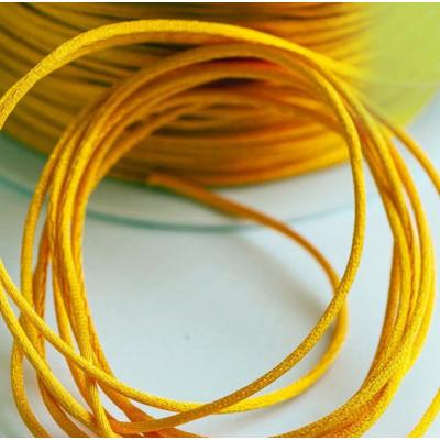 Атласный шнур для кумихимо, насыщенный желтый, 1 мм (4 м)