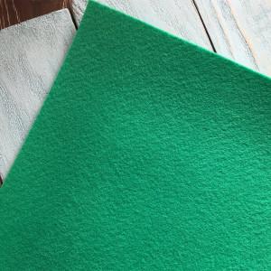 Корейский жесткий фетр цв.935, зеленый нефритовый, толщина 1,2 мм, лист 33х110 см