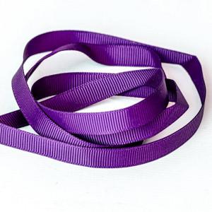Репсовая лента, фиолетовый, ширина 9,5 мм...