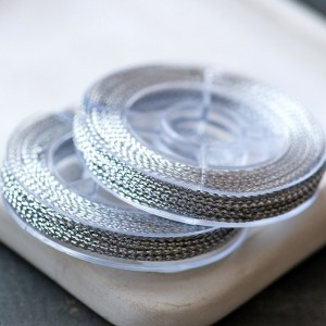 Нейлоновый шнур, цвет серебро, 0.6 мм, боб 10 м...