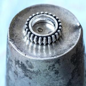 Рамочка для бусин, античное серебро, 13x4 мм...