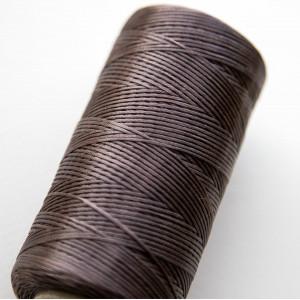 Плоский вощеный шнур синт., цвет коричневый, 1х0,3 мм...