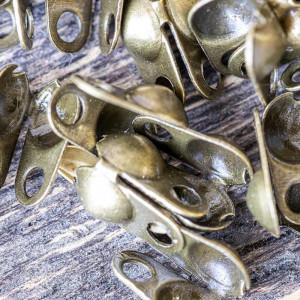 Калотта вертикальная с отверстием, ант. бронза, 8х4 мм ...