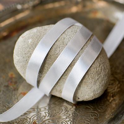Атласная лента, жемчужный серый, ширина 10 мм