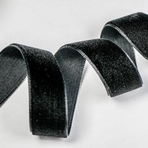Бархатная лента, черный, ширина 15,9 мм...