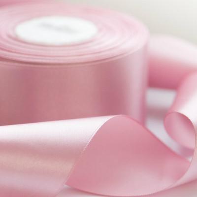 Атласная лента, светло-розовый, ширина 50 мм