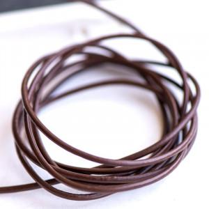 Шнур кожаный, цвет коричневый, диаметр 1.5 мм...