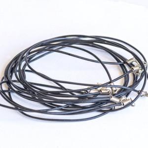 Основа для ожерелья, кожа, черный, 574х2 мм...
