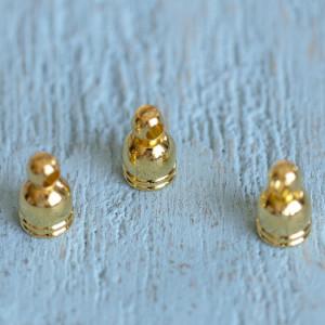Концевик для шнура, цвет золото, 8х5 мм...