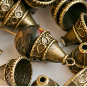 Колпачок для бусин, античная бронза, 11x13х13 мм...