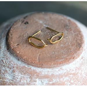 Пуссеты-гвоздики, покрытие Real Gold Plated,  12x6 мм...