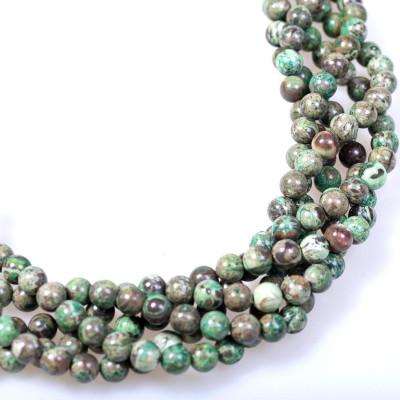 Бусины агата, цвет зеленый натуральный, окрашен., 10 мм