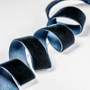Бархатная лента, темно-синий, ширина 15,9 мм...