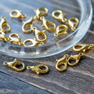 Замочек-лобстер, цв. золото, 16х8 мм...