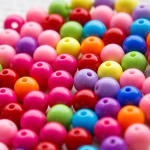 Бусина акриловая круглая, разные цвета в асс., 12 мм...