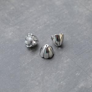 Колпачок для бусин, античное серебро, 17x17х15 мм...
