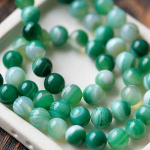 Бусины агата, цвет зеленый, окрашен., 10 мм...