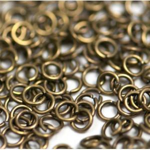 Колечко соединительное 4, цвет античная бронза, 4 мм (в...
