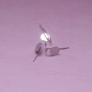 Швензы (основы для сережек), платина, 24х14 мм...