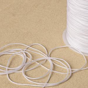 Шнур полиэстровый, белый, 1 мм...