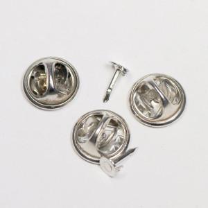 Основа для броши с защелкой, платина, диаметр 12 мм...