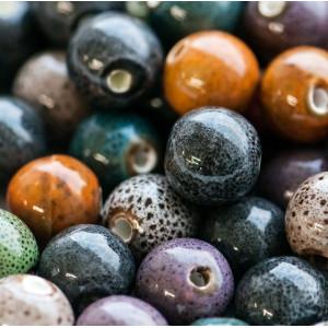Бусина керамическая круглая, разные цвета, 14 мм...