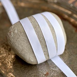 Репсовая лента, белый, ширина 10 мм...