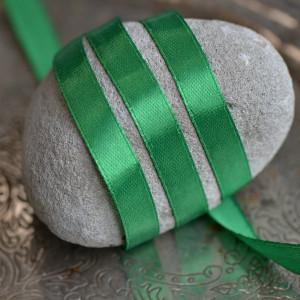 Атласная лента, насыщенный зеленый, ширина 10 мм...
